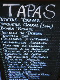 Tapas Menu on Blackboard in a Bar Fotografie-Druck von Martin Skultety