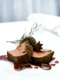 Beef Fillet with Kale and Port Jus Photographic Print by Michael Boyny