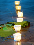 Tea Lights as Table Decoration Photographic Print by Vincent Knapp