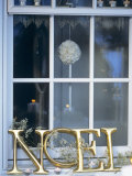 French Christmas Window Decoration Photographic Print by Jean Cazals