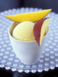 Mango & Lemon Ice Cream in a Tub Photographic Print by Jean Cazals