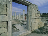 Woman Walks Beside Ruins in Chersonesus, Sevastopol Photographic Print by Sisse Brimberg