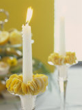 Candle with Lemon Peel Candle Ring Photographic Print by Roland Krieg