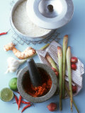 Still Life with Curry Paste, Thai Seasonings and Rice Photographic Print by Jörn Rynio