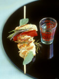 Chicken Kebab and Asian Drink Photographic Print by Jean Cazals