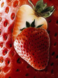 Halved Strawberry Photographic Print by Dieter Heinemann