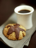 Coffee Sand Biscuits with Chocolate Icing Photographic Print by Jean Cazals
