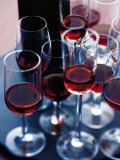 Red Wine in Several Glasses Photographic Print by Steve Baxter