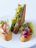 Baguette with Deli Salads and Wholemeal Sandwich Photographic Print by Jörn Rynio