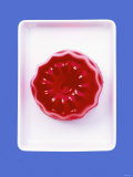 Turned-Out Raspberry Jelly on Rectangular Dish Photographic Print by Barbara Bonisolli