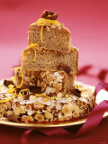 Almond Gateau in Festive Arrangement Photographic Print by Luzia Ellert