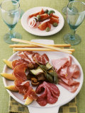 Antipasto Misto (Platter of Assorted Appetisers, Italy) Photographic Print by J&#246;rn Rynio