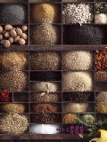Spices for Baking Bread in Typesetter's Case Photographic Print