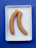Two Frankfurters in Shallow Bowl Photographic Print by Barbara Bonisolli
