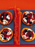 Tartlets with Mozzarella, Dried Tomatoes and Olives Photographic Print by Steve Baxter