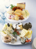 International Cheese Platter &amp; Savoury Cheese Plate for Buffet Photographic Print by J&#246;rn Rynio