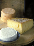 French Soft Cheese, Cheese with Holes and Munster Cheese Photographic Print by Joerg Lehmann