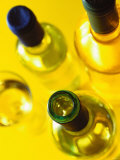 Three White Wine Bottles and a Wine Glass Photographic Print by Ulrike Koeb