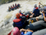 Whitewater Rafters Paddle Through Rapids Photographic Print by Skip Brown