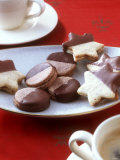 Filled Star Biscuits and Filled Chocolate Cookies Photographic Print by Jörn Rynio