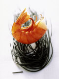 Shrimps with Black Pasta Photographic Print by Marc O. Finley
