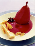 Red Wine Pear with Cheese and Star Anise Photographic Print by Alexander Van Berge