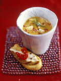 Fish Soup and Toast with Lemon Chicken Photographic Print by Jean Cazals