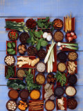 Various Exotic Herbs and Spices in Bowls Photographic Print by Alberto Cassio