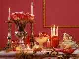 Buffet Display in Red for a Romantic Buffet Photographic Print by Luzia Ellert