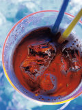 Soda in Glass with Ice Photographic Print by Martina Urban