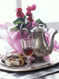 Silver Tray with Biscuits and Tea Photographic Print by Alena Hrbkova