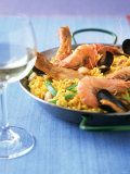 Paella Valenciana with Chicken and Seafood Photographic Print by Jörn Rynio