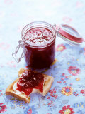 Strawberry Jam on Toast and in Preserving Jar Photographic Print by Roland Zollner