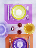 Table Setting in Seventies Style Fotografie-Druck von Alexander Van Berge
