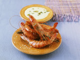 Shrimps with Caper Mayonnaise Photographic Print by J&#246;rn Rynio