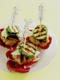 Barbecued Mince and Courgette Kebabs Photographic Print by Alexander Van Berge