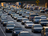 Washington's Beltway Backed-Up in Rush Hour, Silver Spring, Maryland Photographic Print by Stephen St. John