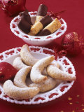 Cashew Sticks and Vanilla Crescents (Sweet Pastry) Photographic Print by Jörn Rynio