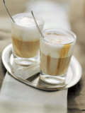 Latte Macchiato on a Tray Photographic Print