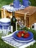 Picnic Scene with Strawberries Photographic Print by Alena Hrbkova
