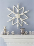White Star as Wall Decoration and Silver Balls on Mantelpiece Photographic Print by Miki Duisterhof