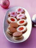 Biscuits: Nougat Cookies, Jam Biscuits, Raspberry Stars Photographic Print by Jörn Rynio