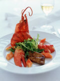 Lobster with Sauteed Goose Liver and Lettuce Photographic Print by Antje Plewinski
