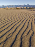 Wide Angle of Sand Patterns at the Sand Dunes near Stovepipe Wells, Death Valley, California Photographic Print by Rich Reid