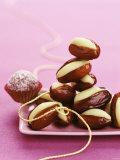 Dates Stuffed with Pistachio Marzipan Photographic Print by Luzia Ellert