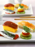 International Dish: Western Style Sushi Snacks Photographic Print by J&#246;rn Rynio