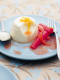 Panna Cotta with Rhubarb Photographic Print by Steve Baxter