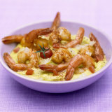 Curried Shrimps on Vegetable Puree Photographic Print by Bernard Radvaner