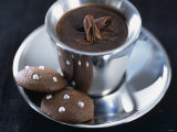 Hot Chocolate with Chocolate Biscuits Photographic Print by Alena Hrbkova