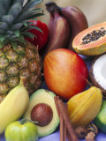 Various Tropical Fruits and Spices Photographic Print by Felicity Cole